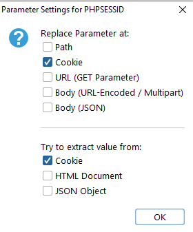 parameter settings session cookie