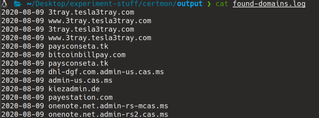 found domains
